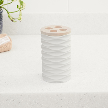 Marshmallow Textured Tooth Brush Holder