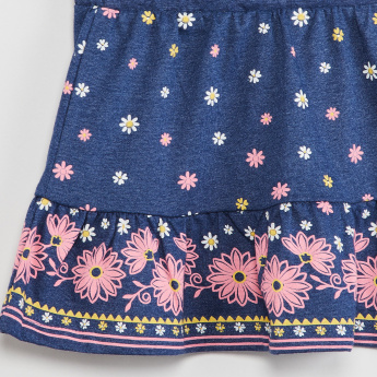 MAX Floral Print A-line Skirt