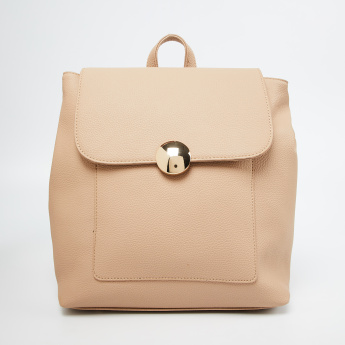 CODE Textured Backpack with Flap