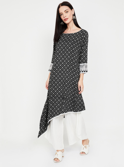 IMARA Checked Asymmetric Kurta thumbnail