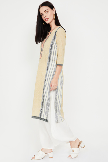 W Printed Straight Kurta