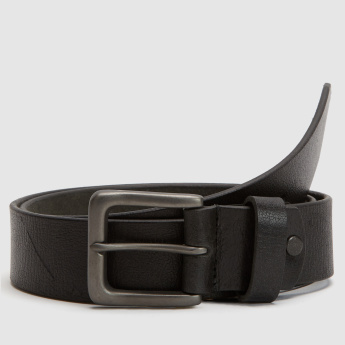 Textured Pin Buckle Belt